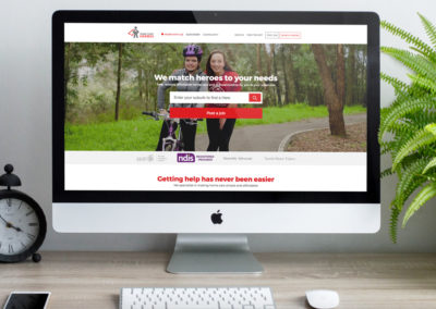 Home Care Heroes website